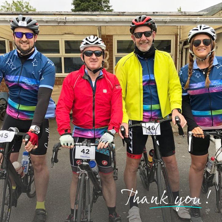 We raised £360 for 2 Wish on 2 Wheels!