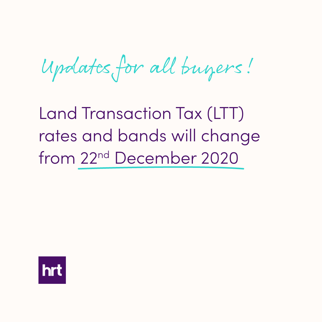 Changes to the rates and bands of Land Transaction Tax